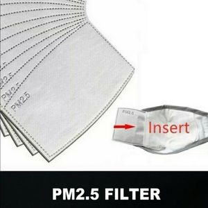 Facemask PM 2.5 Filters